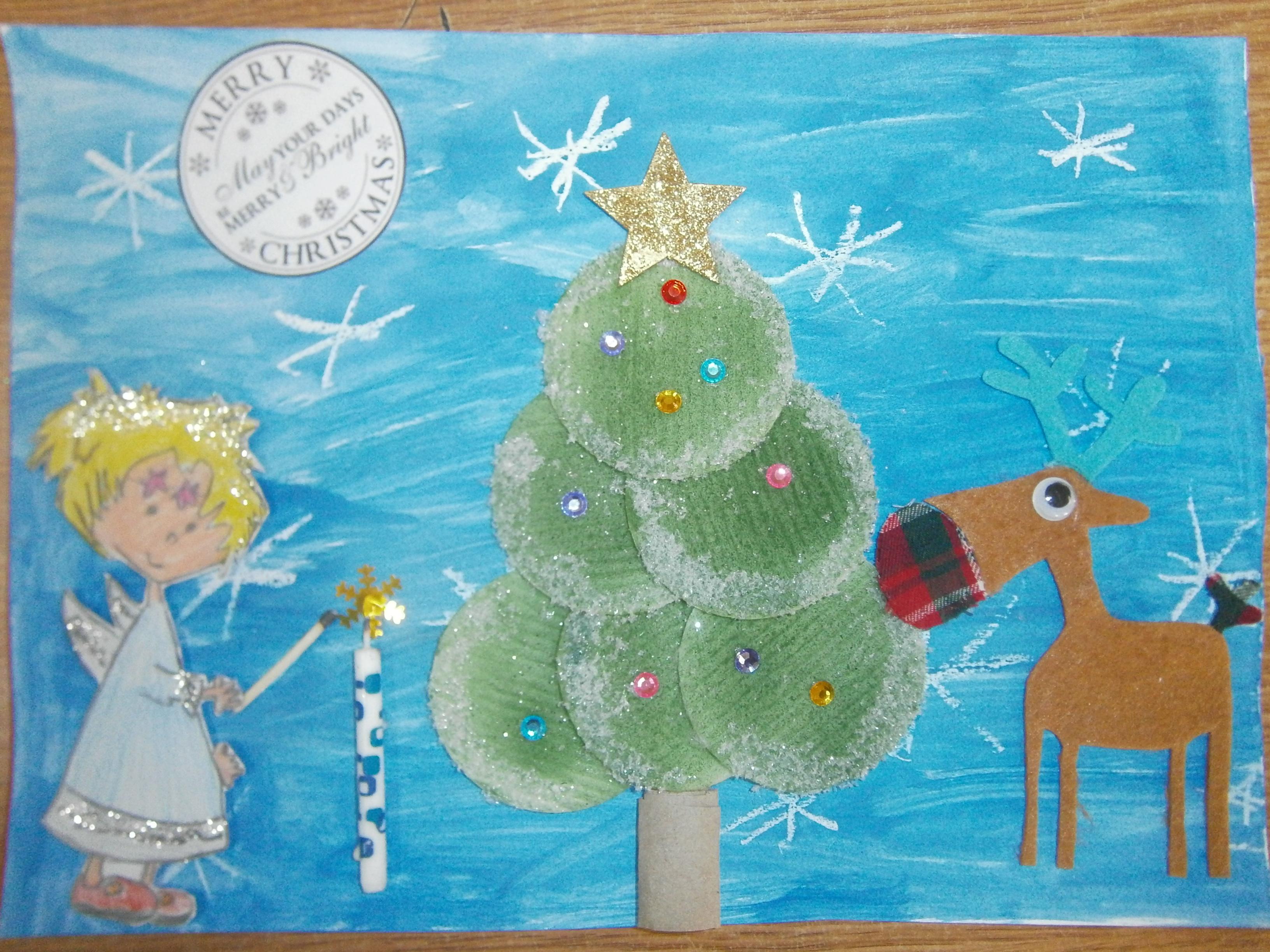 """MIĘDZYSZKOLNY KONKURS PLASTYCZNO – JĘZYKOWY """"THE MOST BEAUTILUL CHRISTMAS CARD"""" 2015"""