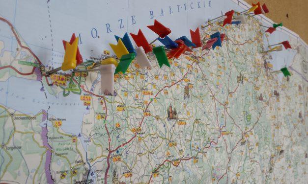 Mapa wakacyjnych podróży