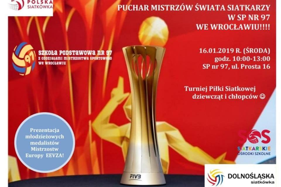 Puchar Mistrzów Świata Siatkarzy w SP97 we Wrocławiu!